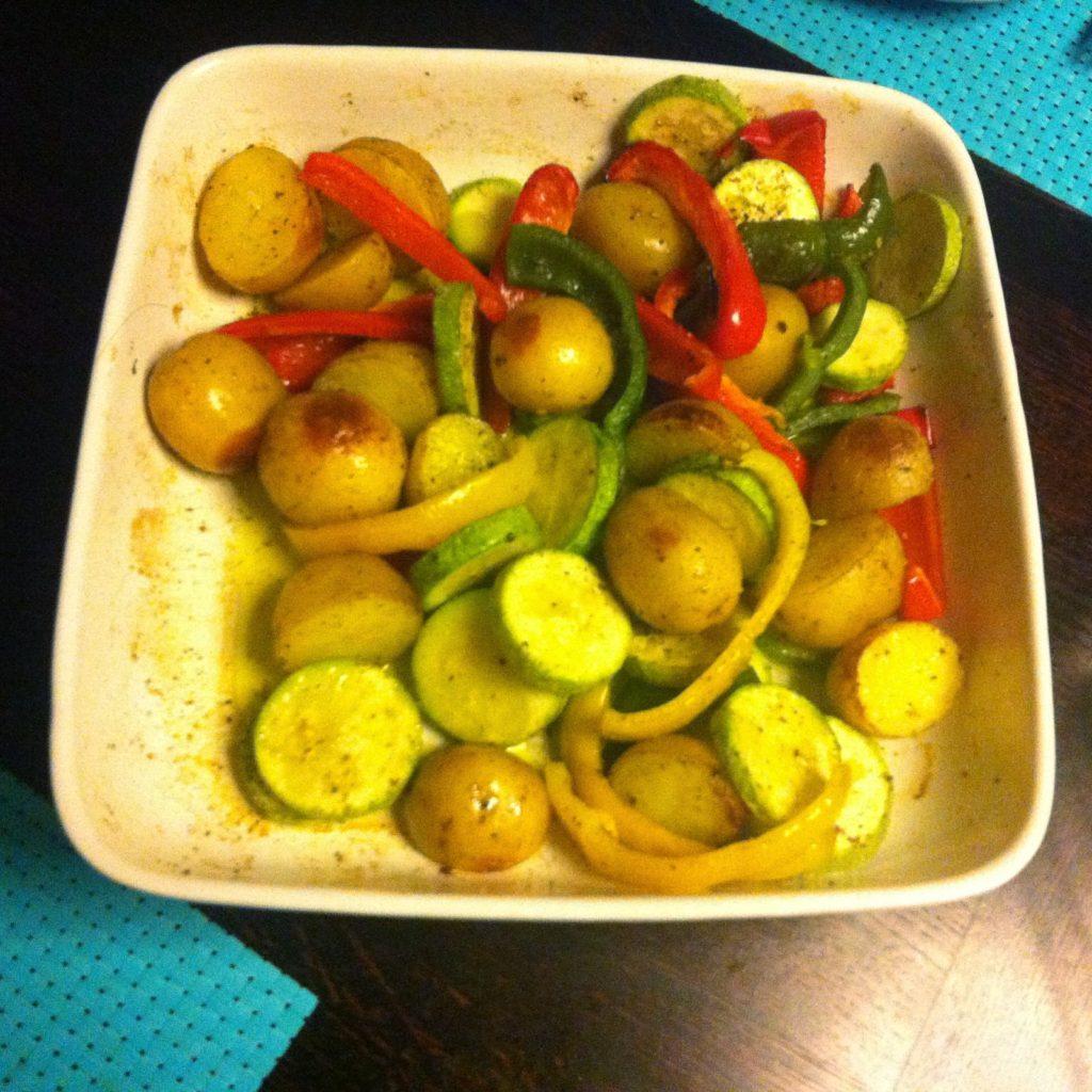 Быстрый ужин на скорую руку #3 - Запеченная курица с овощами