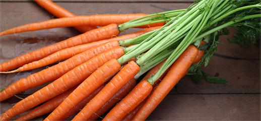 Морковь - классический супер продукт для придания телу красивого загара.Богата альфа- и бета-каротином.