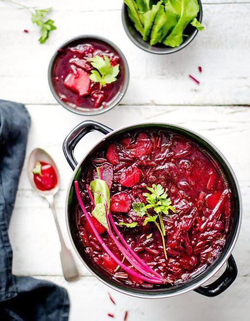 ощелачивающие рецепты: свекольный суп