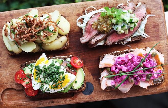 Необычные датские бутерброды