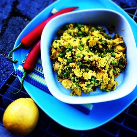 Рис c рыбой и овощами