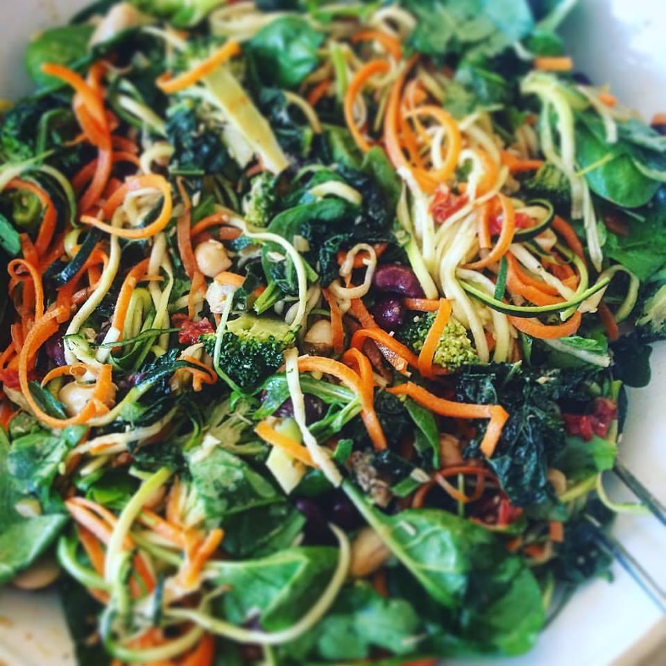 рецепт ощелачивания № 6 теплый салат. Все ингредиенты в этом рецепте являются ощелачивающими продуктами