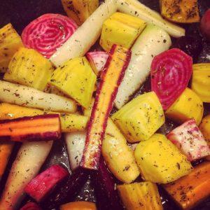 запечённая морковь